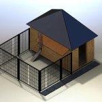 3D модель курятника