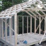 Процесс постройки крыши