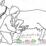Обрезка переднего копытца стоячей козы