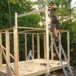 Возведение стен из деревянных балок