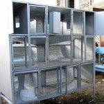 Переносная клеточная конструкция для кроликов