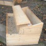Деревянный самодельный ящик