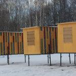 Мобильные кассетные павильоны зимой