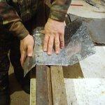 Выгибание заготовки для передней стенки