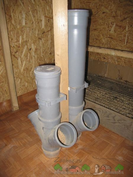 Кормушка из пластиковых труб фото