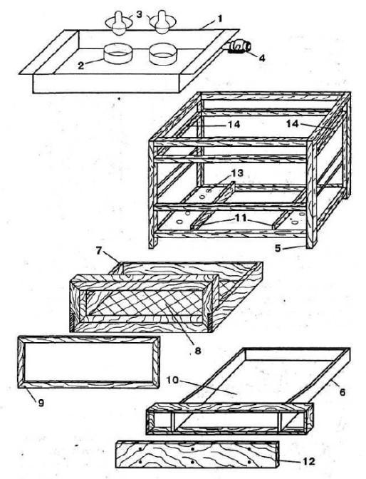 Схема инкубатора конструкции