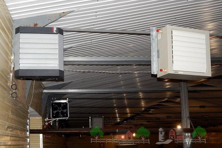 Современная система обогрева и отопления свинарника
