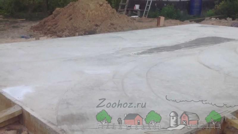 Цельный бетонный фундамент