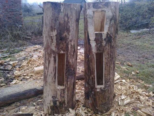 Две заготовки с вырезанными отверстиями