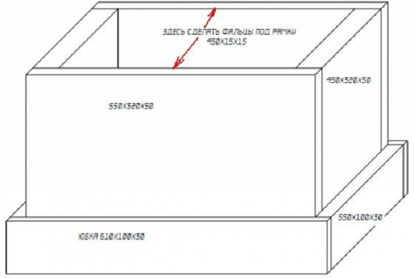 Схема пенопластового улья