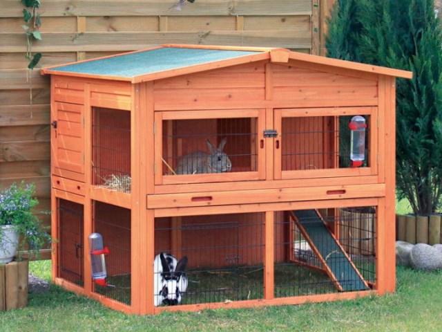 Двухъярусный домик для кроликов