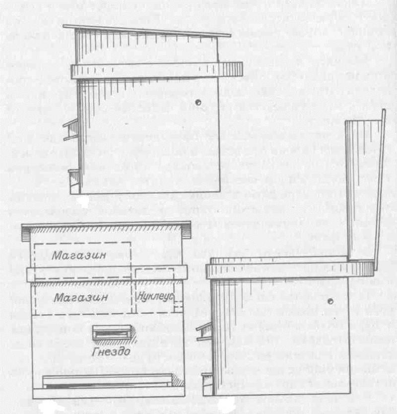 Схема конструкции улика по методу Цебро