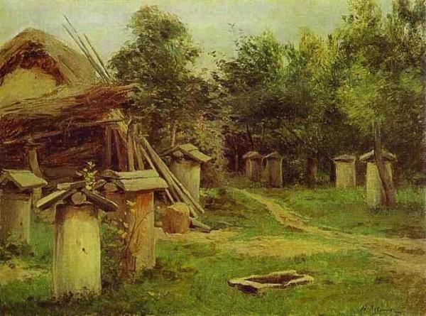 """Картина И.И. Левитана """"Пчельник"""" 1880-е годы"""