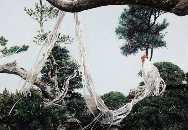 Изображение декоративного петуха-феникса