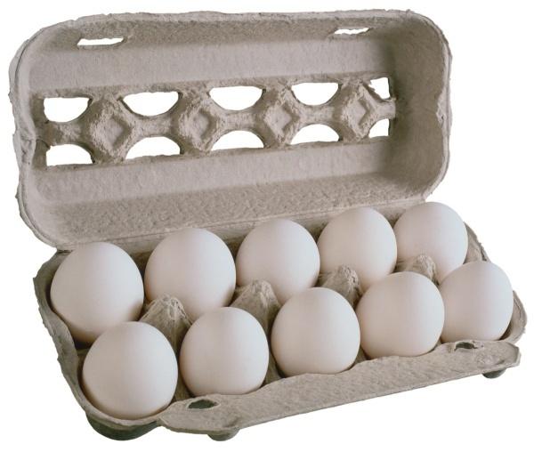 Картонный лоток с яйцами