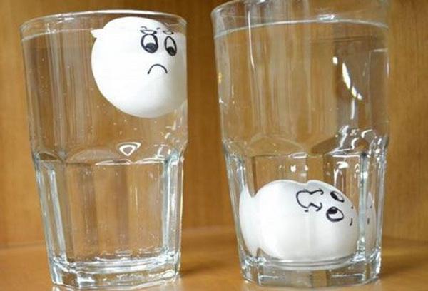Проверка продуктов в стаканах